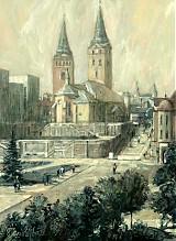 Obrazy - Hometown, Farský kostol v lete - 2391058