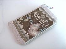 Na mobil - Skryj tajemmství, ve svém srdci - luxusní pouzdro na mobil - 2392891