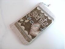 Na mobil - Skryj tajemmství, ve svém srdci - luxusní pouzdro na mobil - 2392892
