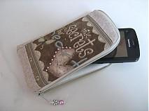 Na mobil - Skryj tajemmství, ve svém srdci - luxusní pouzdro na mobil - 2392893