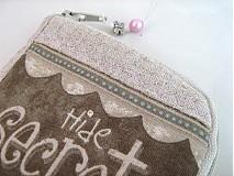 Na mobil - Skryj tajemmství, ve svém srdci - luxusní pouzdro na mobil - 2392895