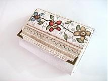 Knoflíčkové květinky - zipová i na karty
