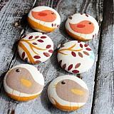 Materiál ručne robený - Buttony s vtáčikmi 38 mm - 2396926