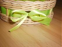 Košíky - Vajíčko so zelenou mašličkou - 2396949