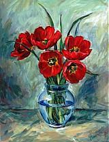 Obrazy - Červené tulipány - 2396977