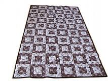 Úžitkový textil - Hnedé kocky - ukážka vzoru - 2398056