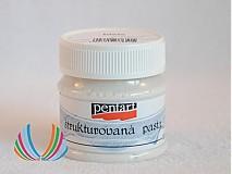 Farby-laky - Štruktúrovacia pasta biela, 50 ml, ihneď - 2399117