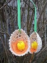 Veľká Noc - háčkované béžové vajíčko...:) - 2399841