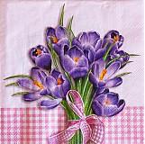 Papier - Crocus Bouquet rose - Kytica šafránu - 2400848