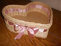 Košíky - Srdiečko ružovučké - 2403040