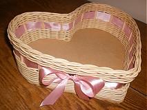 Košíky - Srdiečko ružovučké - 2403048