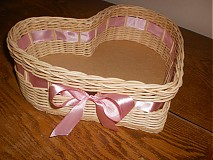 Košíky - Srdiečko ružovučké - 2403053