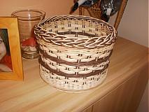 Košíky - Tmavo hnedý- pásikavý - 2405880