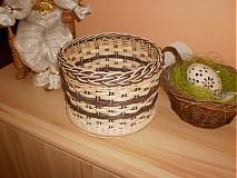 Košíky - Tmavo hnedý- pásikavý - 2405881