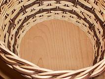 Košíky - Tmavo hnedý- pásikavý - 2405886