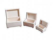 Polotovary - Sada 3 ks šperkovničky - 2406184