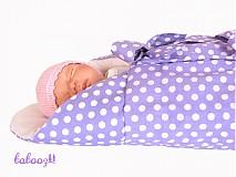 Textil - Perinka Polka Dots fialová - 2406302