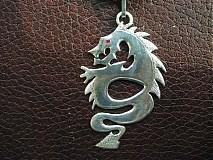 Šperky - drak s rubínovým okom - Ag 925 - 2406778