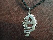 Šperky - drak s rubínovým okom - Ag 925 - 2406779