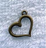 Srdce 12x15mm-1ks (st.mosadz)