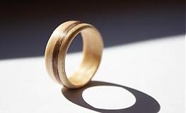 Prstene - Drevený prsteň Javor + Americký Orech  - 2414519