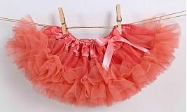 Detské oblečenie - Lososová Tutu suknička - 2417302