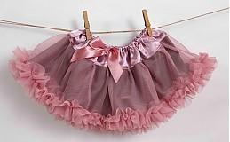 Detské oblečenie - Staroružová TUTU - 2417311