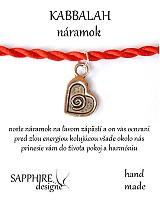 Náramky - kabbalah náramok srdiečko - 2420683