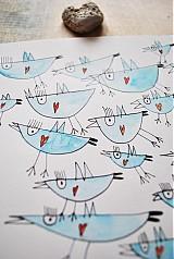 Kresby - vtáčiky - 2420831