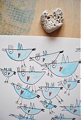 Kresby - vtáčiky - 2420832