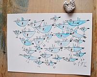 Kresby - vtáčiky - 2420833