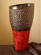 Dekorácie - Váza červená - 2427609