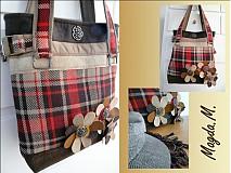 Veľké tašky - Károvaná kabelka - 242903
