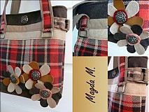 Veľké tašky - Károvaná kabelka - 242904