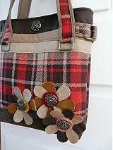 Veľké tašky - Károvaná kabelka - 242905