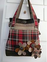 Veľké tašky - Károvaná kabelka - 242907