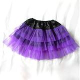 Sukne - fialová spodnička-sukňa - 2431542