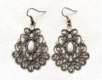 Náušnice - ornamenty s perlou - 2432616