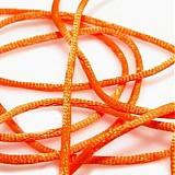 - Saténová šnúrka - oranžová reflexná - 2435111