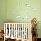 Dekorácie - Rátanie ovečiek - nálepky do detskej izby - 2439519