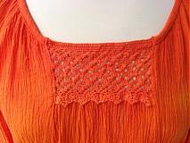 Topy - batikovaná bavlna čipkovaná blúzka IHNEĎ K ODBERU ! - 2440927