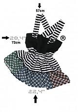 Topy - hravý voľný top mix vzorov - 2444213