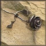 Dekorácie - Kovaná růže z nerez oceli - 2445073