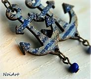 Náušnice - modré - 2445297