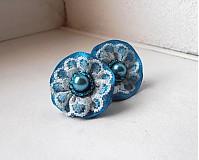 Náušnice - Pompadourky, modré - 2446864