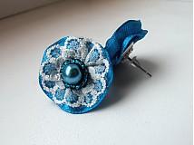 Náušnice - Pompadourky, modré - 2446867