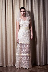 Šaty - VÝPREDAJ Svadobné/ spoločenské šaty Lenka - 2447727