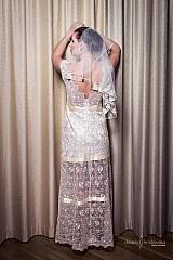 Šaty - VÝPREDAJ Svadobné/ spoločenské šaty Lenka - 2447728