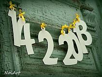 Tabuľky - Girlanda DÁTUM - 2448983
