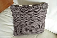 Úžitkový textil - Hnedý vankúš - 2450054